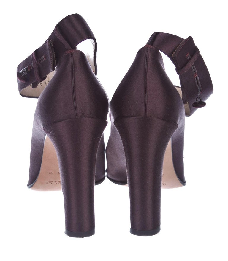New Rare Tom Ford for Gucci Satin Ballerina Ad Runway Heels Pumps Sz 37.5 For Sale 7