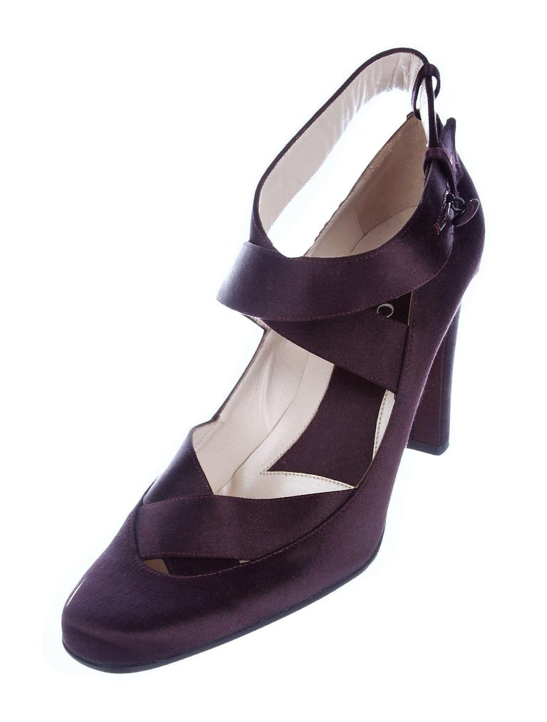 New Rare Tom Ford for Gucci Satin Ballerina Ad Runway Heels Pumps Sz 37.5 For Sale 3