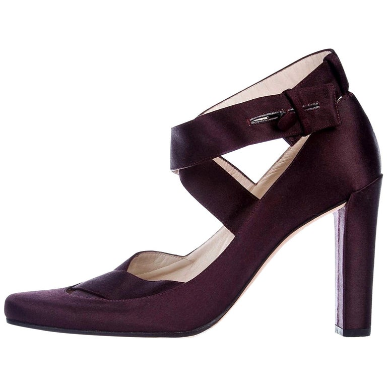 New Rare Tom Ford for Gucci Satin Ballerina Ad Runway Heels Pumps Sz 37.5 For Sale