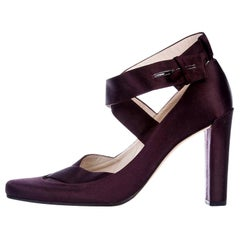 New Rare Tom Ford for Gucci Satin Ballerina Ad Runway Heels Pumps Sz 37.5