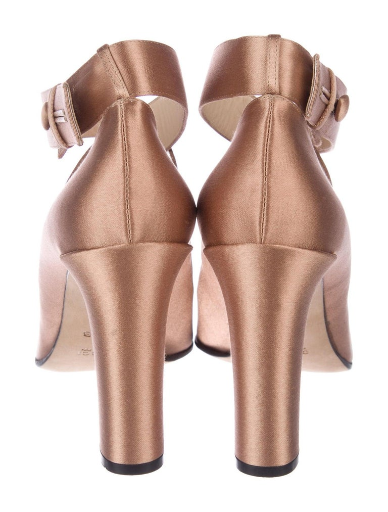 New Rare Tom Ford for Gucci Satin Ballerina Ad Runway Heels Pumps Sz 40.5 For Sale 8