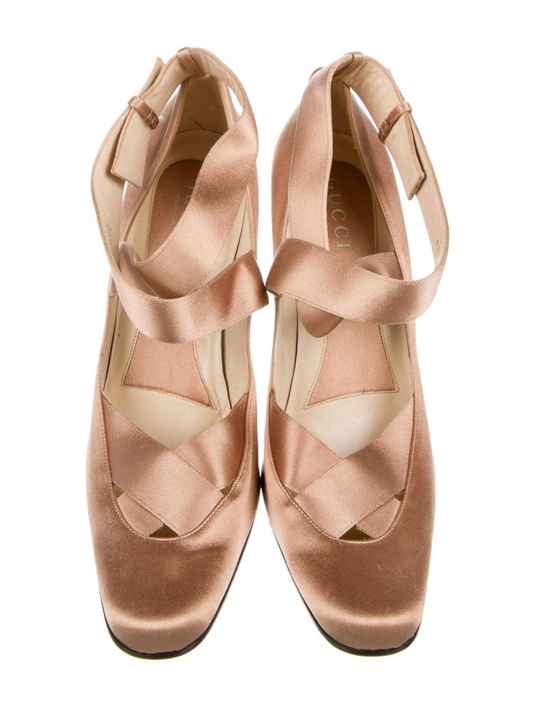 New Rare Tom Ford for Gucci Satin Ballerina Ad Runway Heels Pumps Sz 40.5 For Sale 4