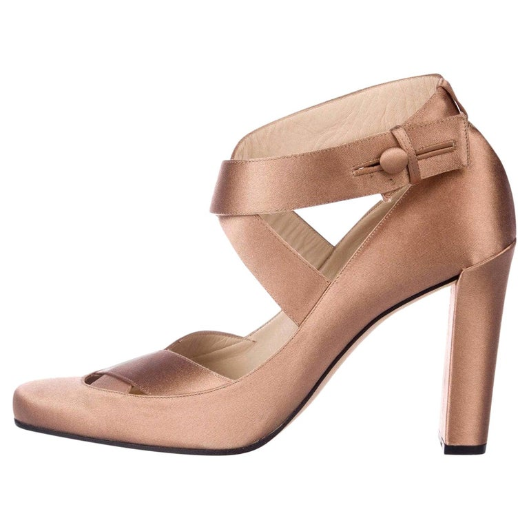 New Rare Tom Ford for Gucci Satin Ballerina Ad Runway Heels Pumps Sz 40.5 For Sale