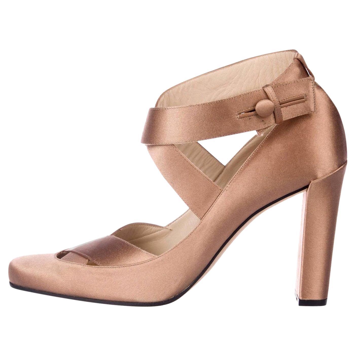 New Rare Tom Ford for Gucci Satin Ballerina Ad Runway Heels Pumps Sz 40.5