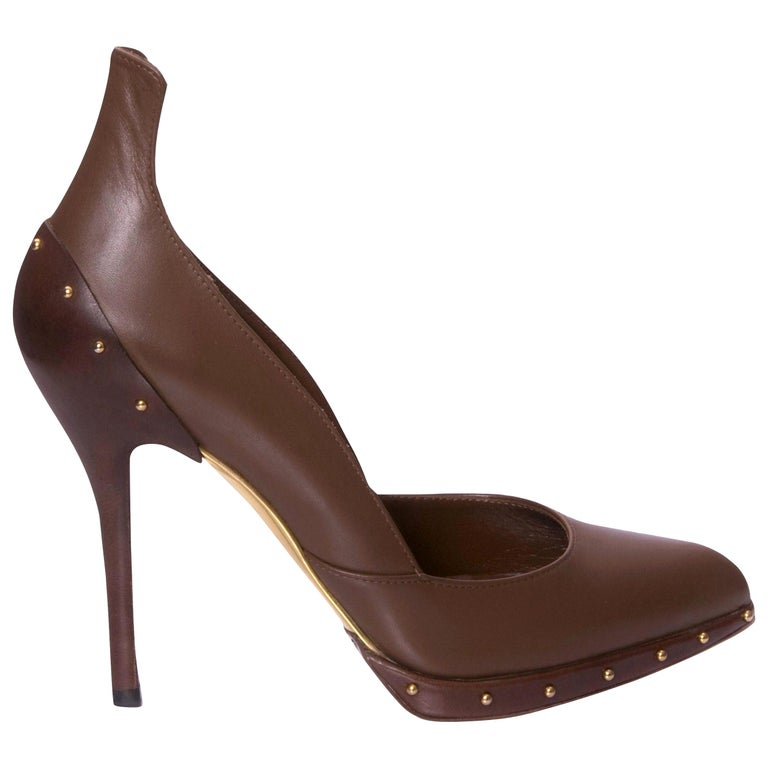New Rare Tom Ford for Gucci Studded Ad Runway Heels Pumps Sz 7 For Sale