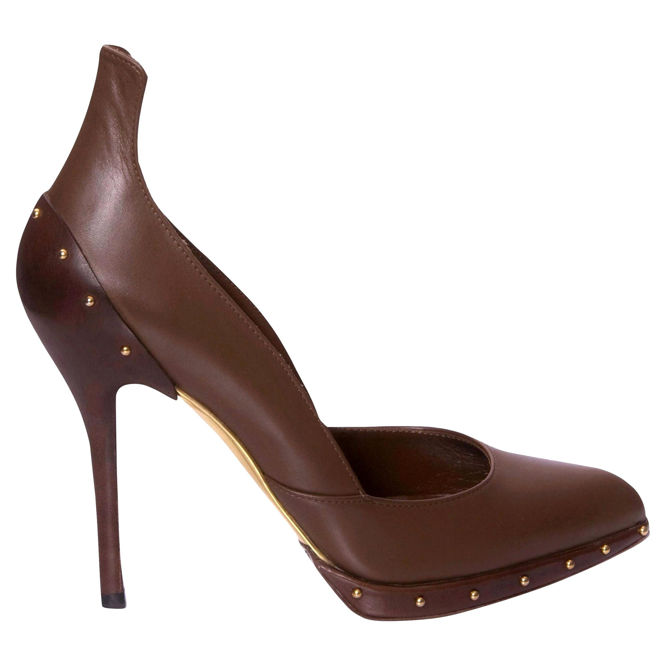 New Rare Tom Ford for Gucci Studded Ad Runway Heels Pumps Sz 9.5 Fall 2003