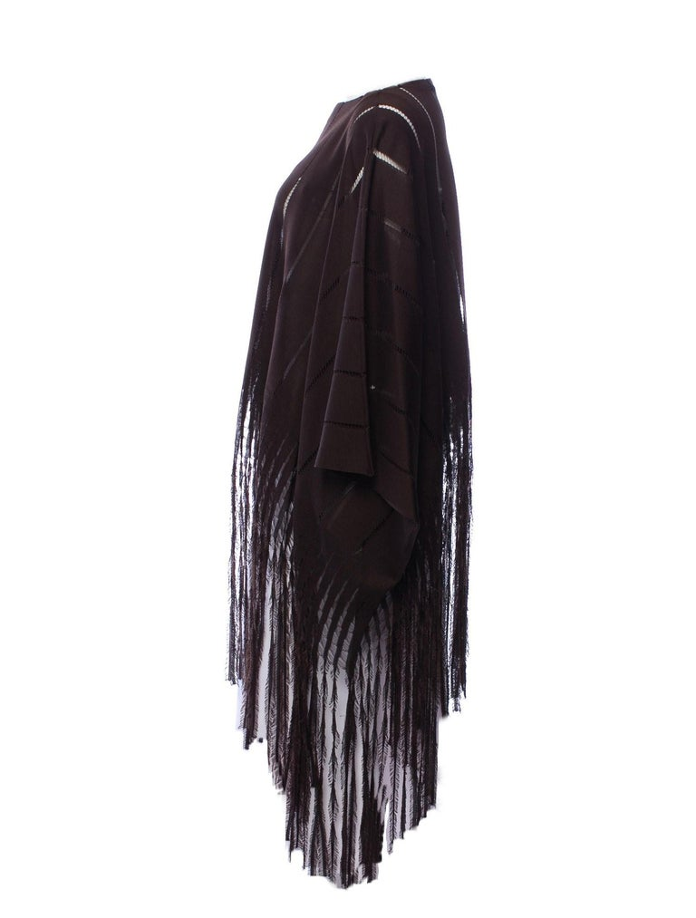 New Rare Tom Ford for Yves Saint Laurent YSL S/S 2002 Silk Poncho Cape One Size For Sale 1