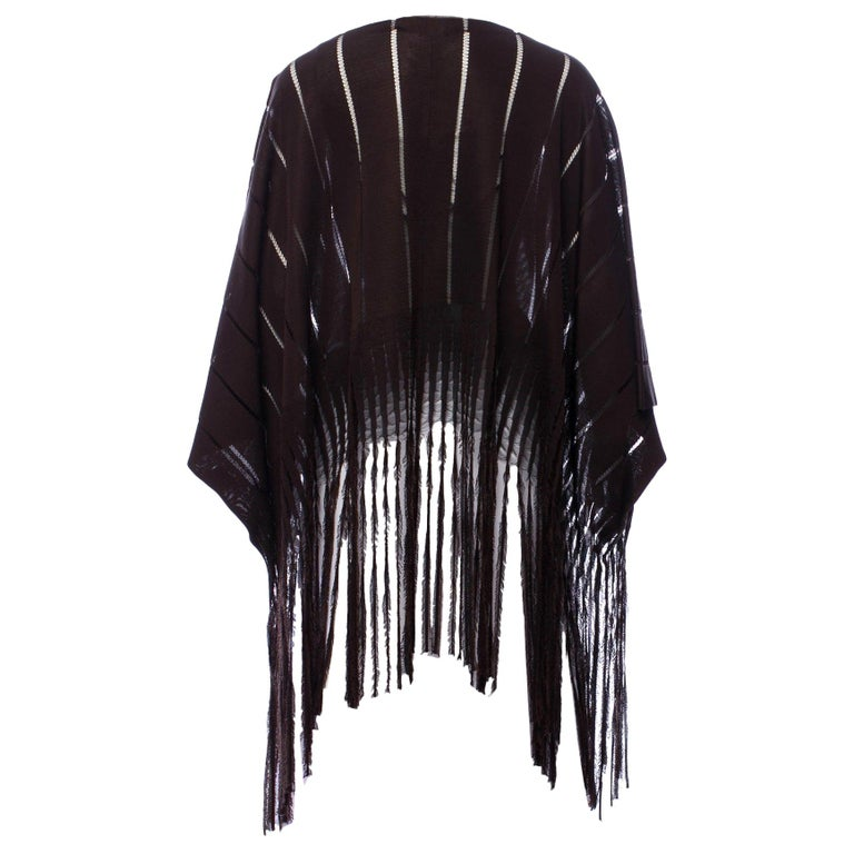 New Rare Tom Ford for Yves Saint Laurent YSL S/S 2002 Silk Poncho Cape One Size For Sale