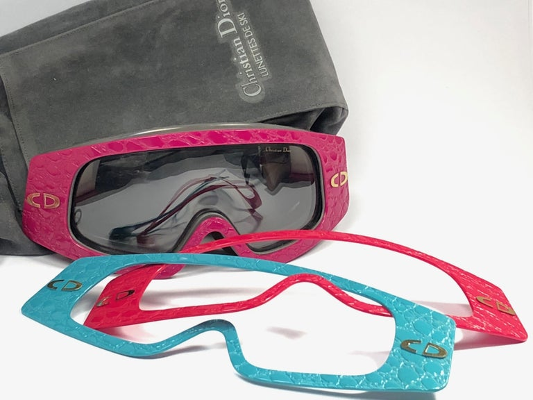 Women's or Men's New Rare Vintage Christian Dior Ski Changeable Collector Item Sunglasses Germany For Sale