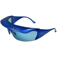 "New Rare Vintage Christian "" Golf "" WQ9 Electric Blue Collector Item Sunglasses"