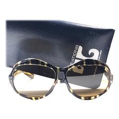 New Rare Vintage Philippe Chevallier Dark Tortoise Oversized 1960's Sunglasses