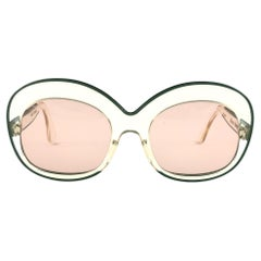 New Rare Vintage Pierre Marly Sourcilla S GM Clear 1960's Sunglasses