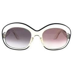 New Rare Vintage Pierre Marly Sourcilla S PM Clear  1960's Sunglasses