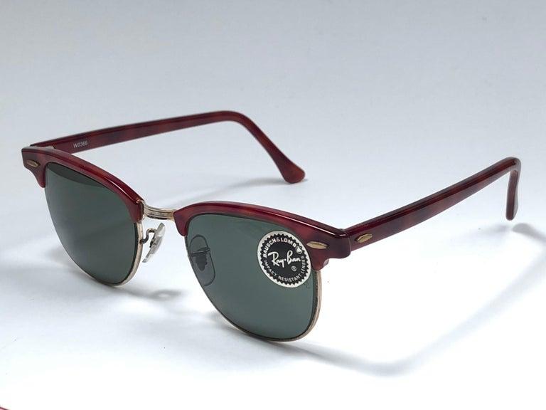 e798c02561 Neue Ray Ban Clubmaster Tief Rot   Gold Edition G15 Objektiv B   L USA 80er