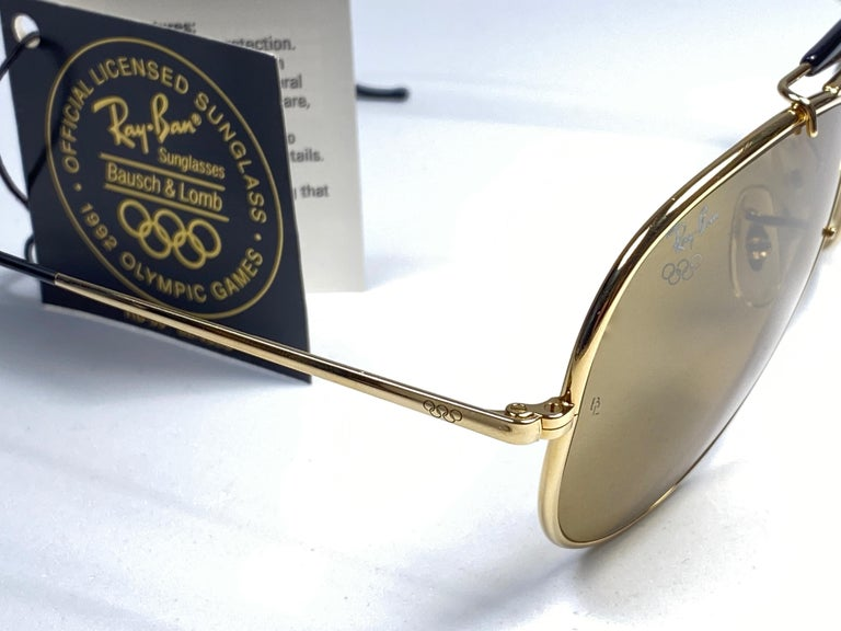 New Ray Ban Olympic Series 1992 RB50 62Mm Outdoorsman Collector Item Sunglasses For Sale 2