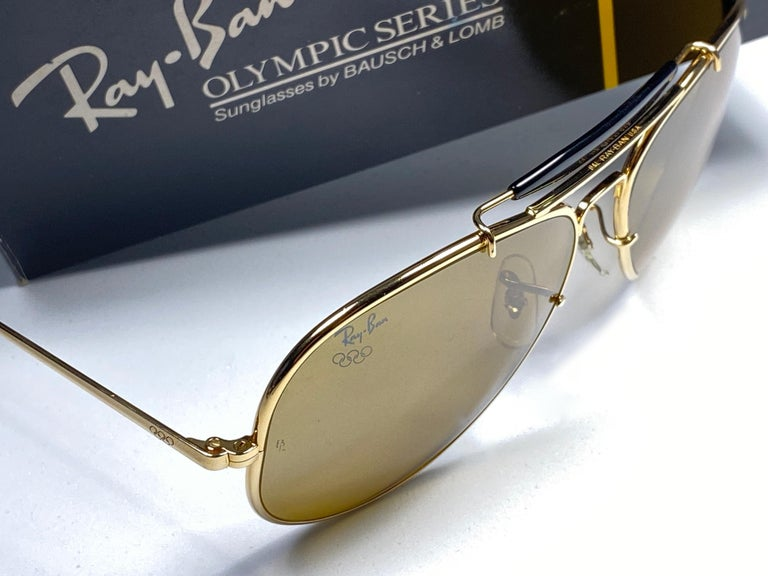 New Ray Ban Olympic Series 1992 RB50 62Mm Outdoorsman Collector Item Sunglasses For Sale 4