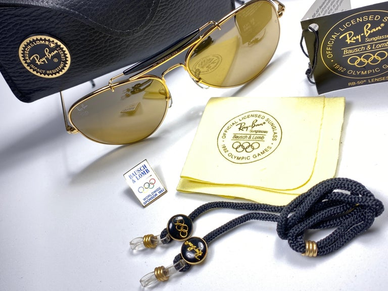 New Ray Ban Olympic Series 1992 RB50 62Mm Outdoorsman Collector Item Sunglasses For Sale 5