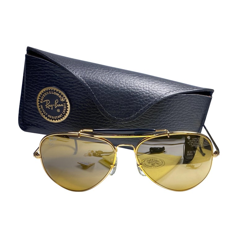 New Ray Ban Olympic Series 1992 RB50 62Mm Outdoorsman Collector Item Sunglasses For Sale