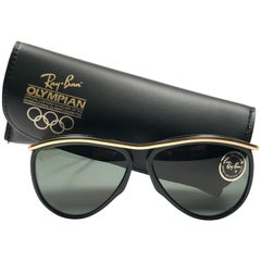 New Ray Ban Olympics Series Black & Gold G15 Lenses 1992 B&L USA 80's Sunglasses
