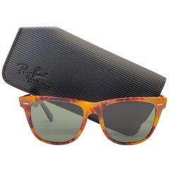 New Ray Ban The Wayfarer II Medium Tortoise G15 Grey Lenses USA 80's Sunglasses