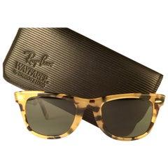 New Ray Ban The Wayfarer Light Tortoise G15 Grey Lenses USA 80's Sunglasses
