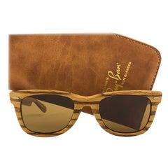 New Ray Ban The Wayfarer Woodies Teak Edition Collectors USA 80's Sunglasses