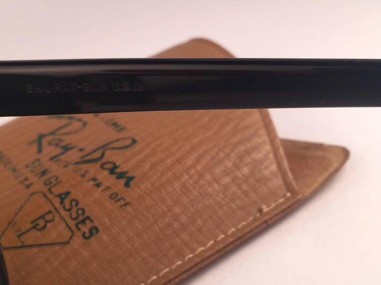 Women's or Men's Vintage Ray Ban Wayfarer 1960's Mid Century Black 1ST EDITION B&L USA Sunglasses For Sale