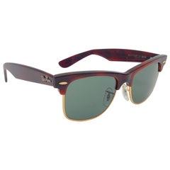 New Ray Ban Wayfarer Max Small Tortoise RB3 Lenses USA 80's Sunglasses
