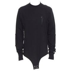 new RICK OWENS CHAMPION SS20 Tecuatl Black Pentagram Star embroidered sweater M