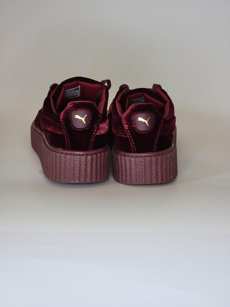 Men's NEW Rihanna Fenty X Puma Burgundy Creeper Low Top Burgundy Sneakers (11 US) For Sale