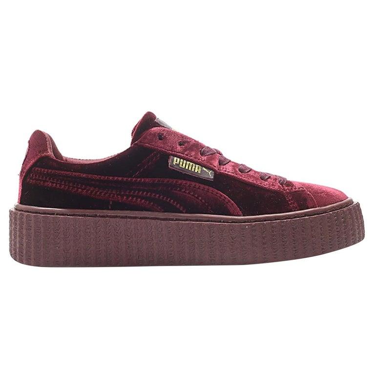 NEW Rihanna Fenty X Puma Burgundy Creeper Low Top Burgundy Sneakers (11 US) For Sale