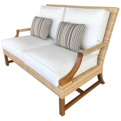 New Riviera Outdoor Loveseat by Michael Taylor Designs