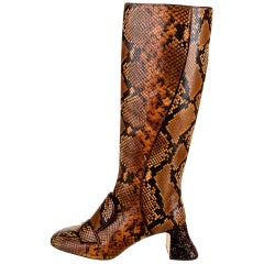 New Rochas Python Crystal Pascal Boots F/W 2018 Size 38