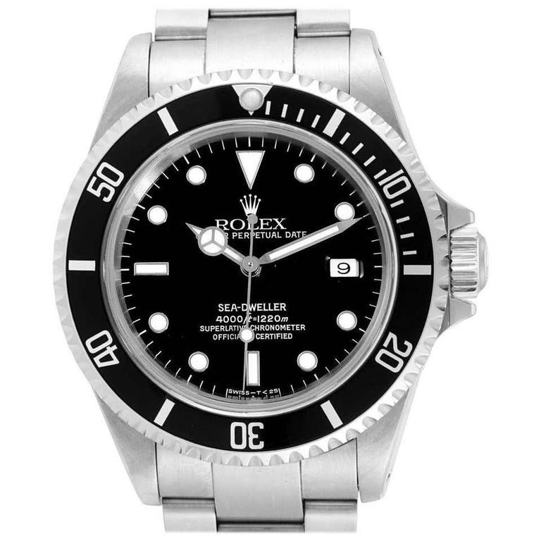 A collector's dream! One of the most demanded Rolex watches, this model has been discontinued and will only go up in value! Brandnew and complete Plastic cover on dial still attached Rolex Oyster Perpetual Sea-Dweller 4000 Model 16600 Serial