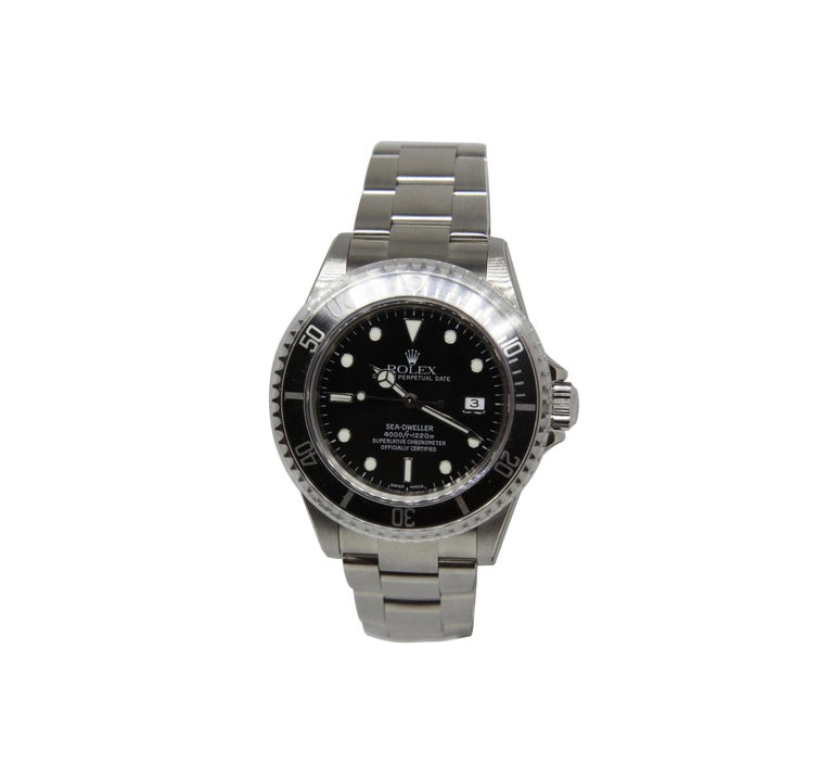 NEW Rolex Sea Dweller 16600 Y Series 2002 Wristwatch Full Set In New Condition For Sale In Switzerland, CH