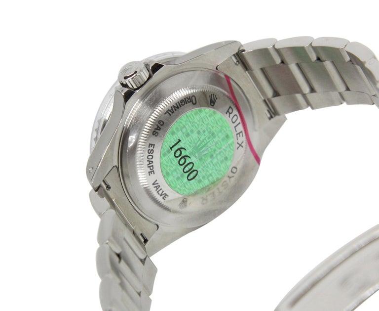 Men's NEW Rolex Sea Dweller 16600 Y Series 2002 Wristwatch Full Set For Sale