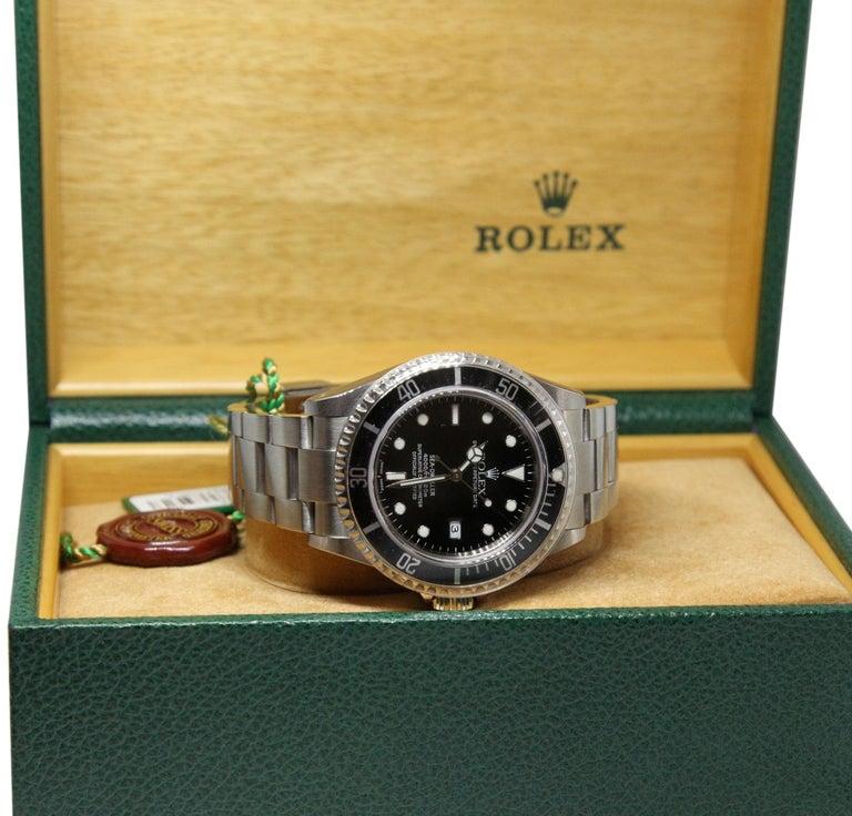 NEW Rolex Sea Dweller 16600 Y Series 2002 Wristwatch Full Set For Sale 3