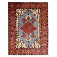 New Rug From Afghanistan, Persian Bakshaish Design, Wool, About 5x7 Natural Dyes