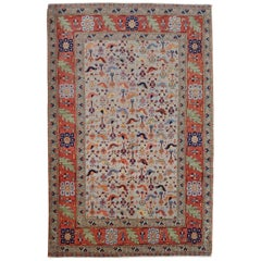 New Rug From Afghanistan, Persian Qashqai Shiraz Design, Wool, 4x6 Natural Dyes