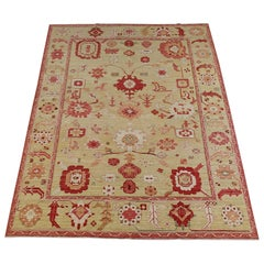 New Rug From Afghanistan, Sultanabad-Oushak Design, Superior Color/Drawing Wool
