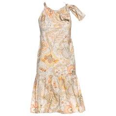 NEW Salvatore Ferragamo Floral Print Neckholder Bow Dress