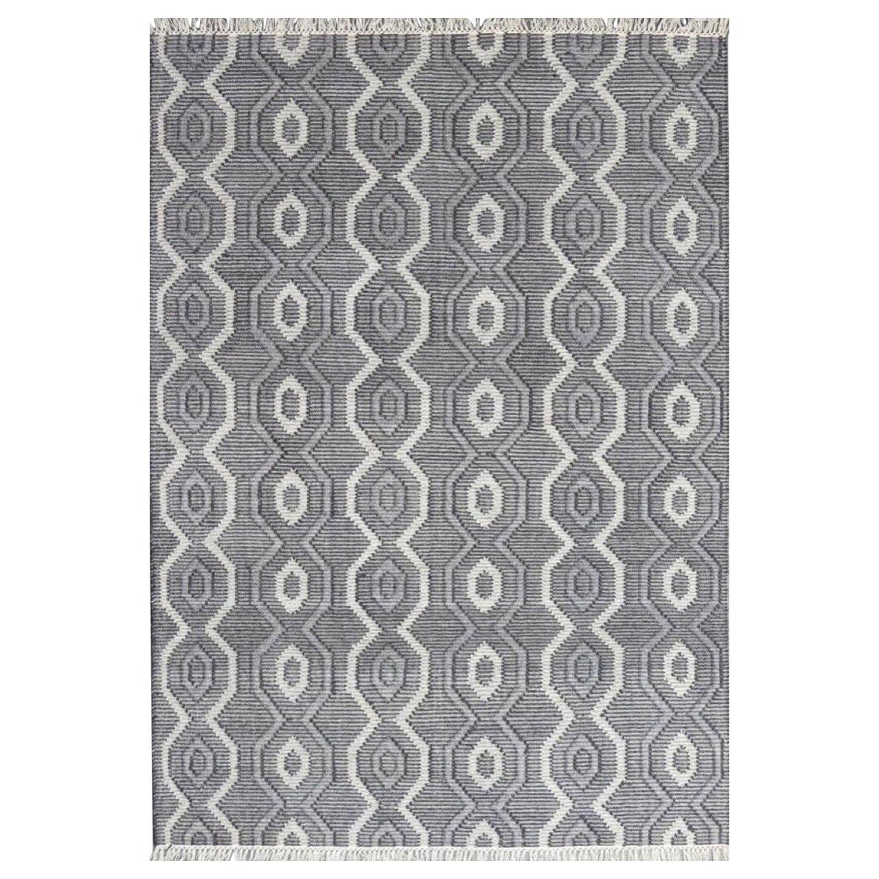 New Scandinavian Design Handwoven Flat Rug Kilim