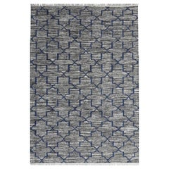 New Scandinavian Design Handwoven Flat Rug Kilim