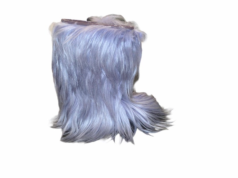 Women's NEW See by CHLOE Moon Snow Winter Yeti Fur Boots For Sale