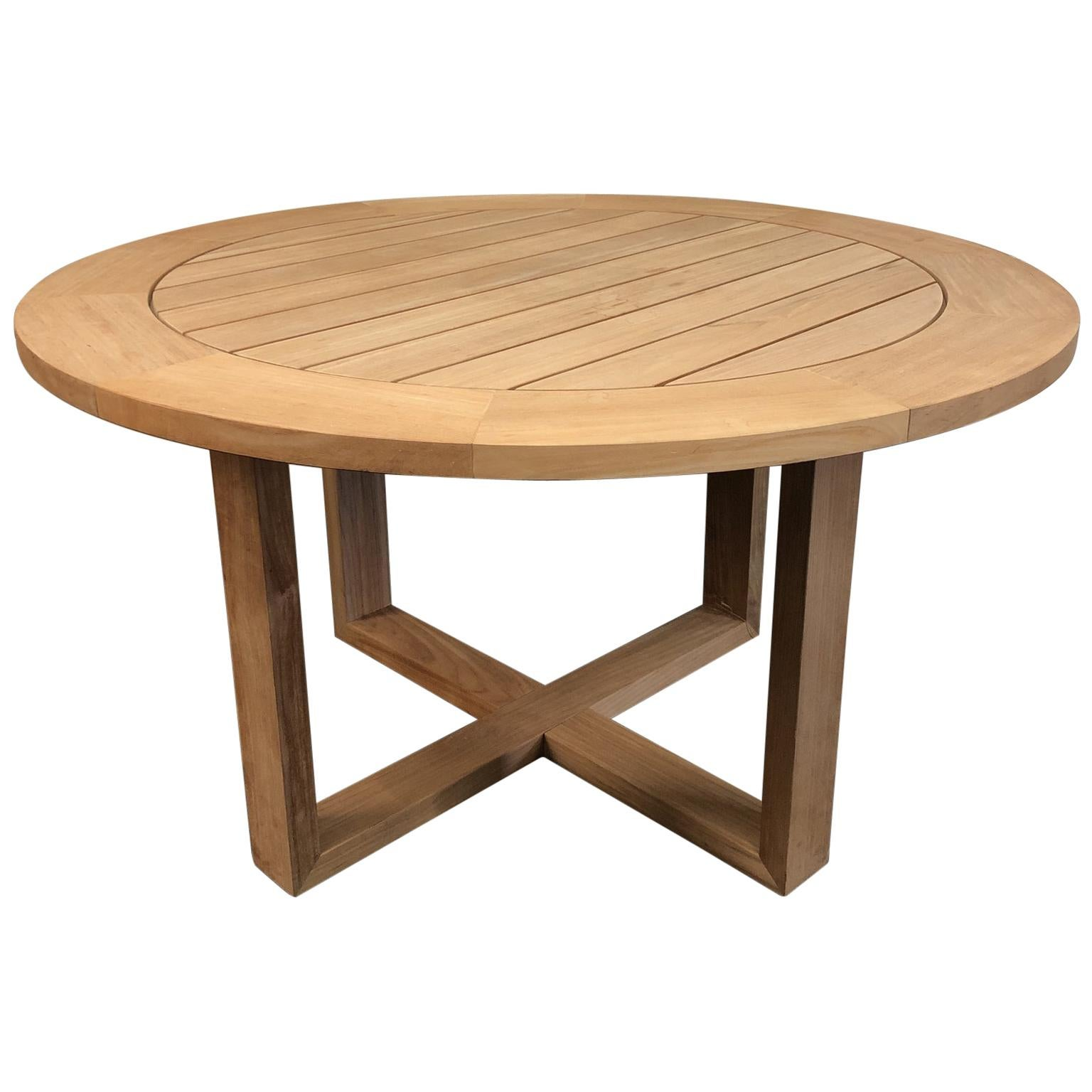 New Siena Round Teak Table By Manutti Belgian Outdoor Furniture