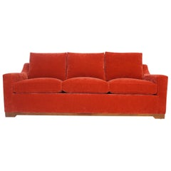 Modern Slope Arm Sofa with Loose Cushions