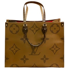 New Sold Out Louis Vuitton ONTHEGO Monogram Giant Canvas Tote Bag Summer 2019