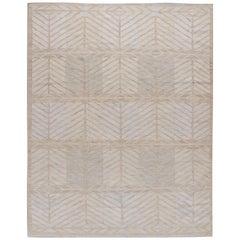 New Swedish Style Kilim Deco Rug, 8' x 10'