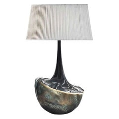 New Table Lamp in Resin Finished in Bronze Color