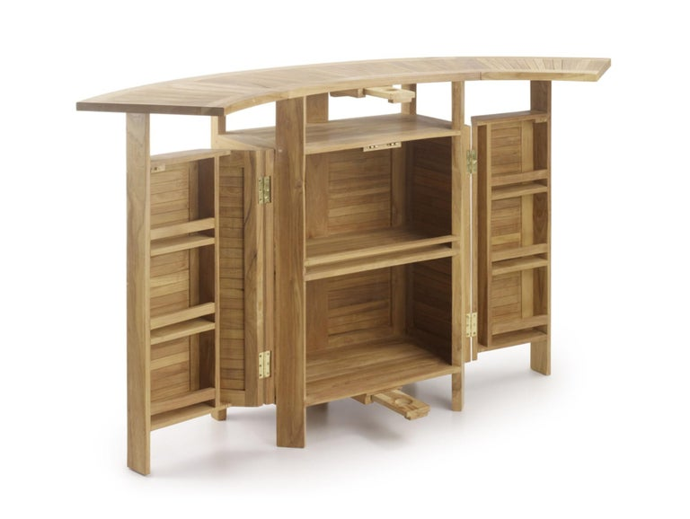 New teak foldable dry bar, indoor and outdoor  Extendable: 38.58in-70.86in.
